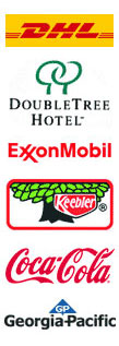 DHL, DoubleTree Hotel, ExxonMobil, Keebler, Coca-Cola and Georgia-Pacific are some of the many success stories!